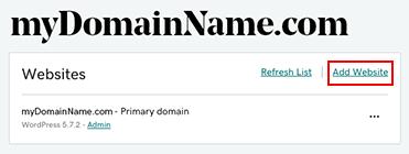 виберіть Додати веб-сайт, щоб додати більше доменів