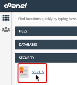 click SSL/TLS