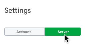 klicka på server