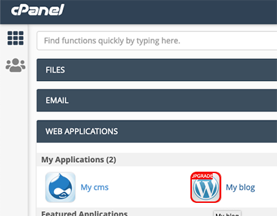 select web application