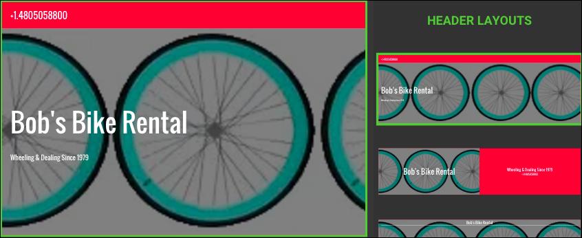 Haz clic en la sección cuyo diseño desees elegir