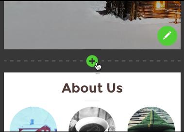 Haz clic en el botón verde de signo más