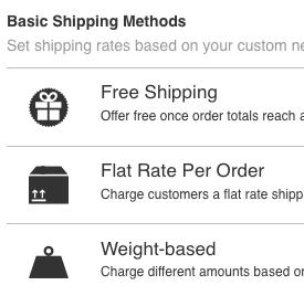 Выбор базового способа доставки