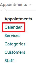 預約行事曆