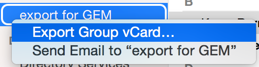 Choose export from the alternate click menu on the group.