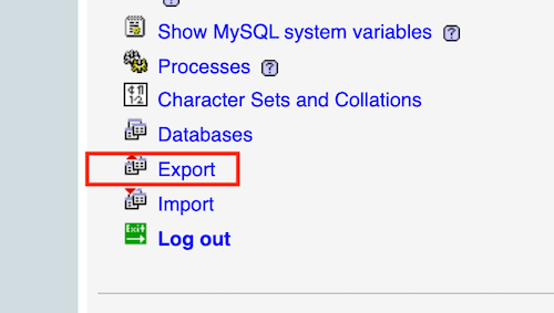 locate and select export