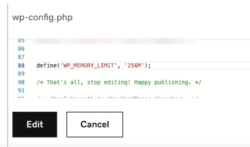 Ejemplo de archivo wp-config.php