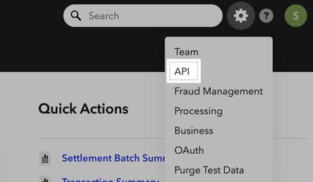 Foto del menú para acceder a las claves API