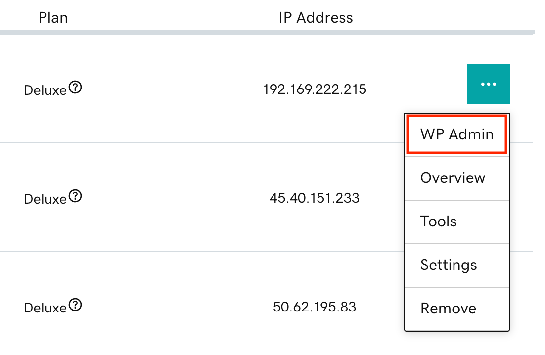 サイトオプションメニューのwp-admin