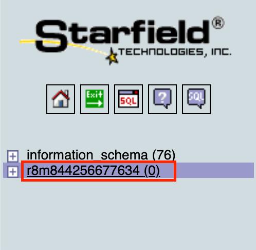 確保表格資料庫為空