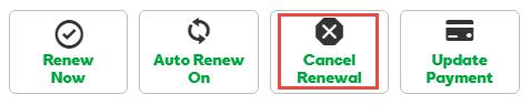 Cancel auto renew