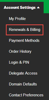 Renewals and Billing