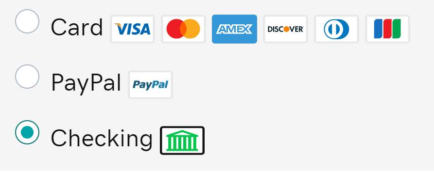 Select Payment Type