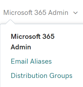 Select Distribution Groups from Microsoft 365 Admin menu