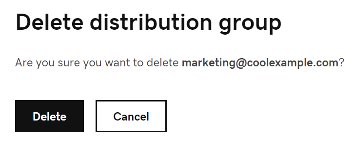 Delete distribution group