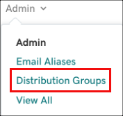 Select Distribution Groups from Admin list