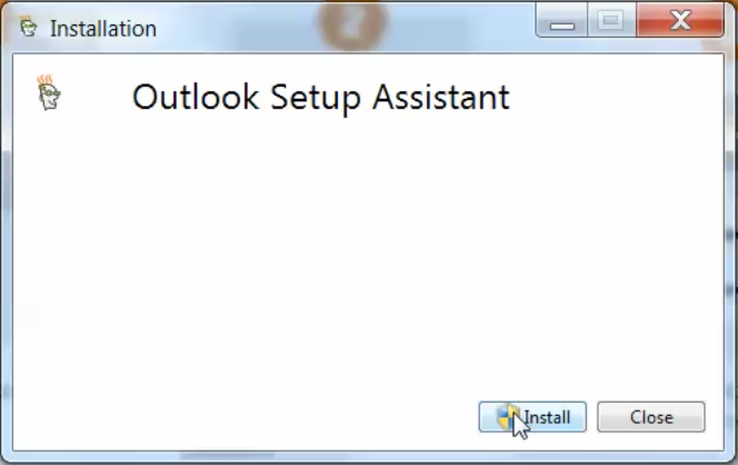 Click Install on Outlook Setup Assistant.