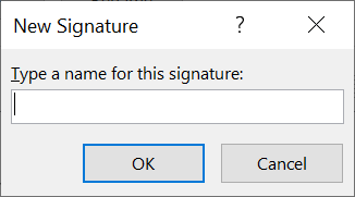 Enter signature name