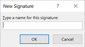 type signature name