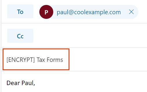 Versleutel de onderwerpregel van de e -mail