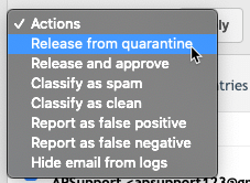 Release from quarantine