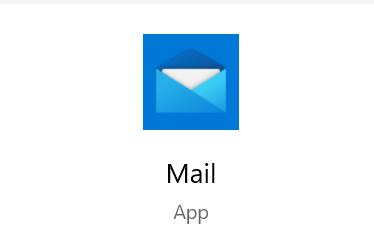 Ikona aplikacji Mail pokazująca otwarty niebieski folder