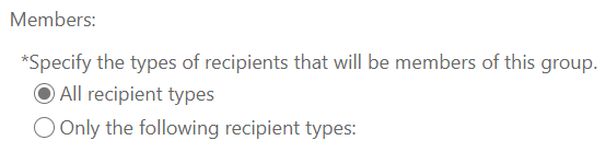 All recipient types