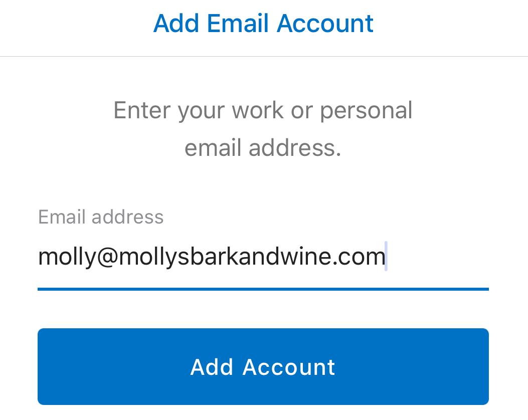 Vollständige Office 365-E-Mail-Adresse eingeben