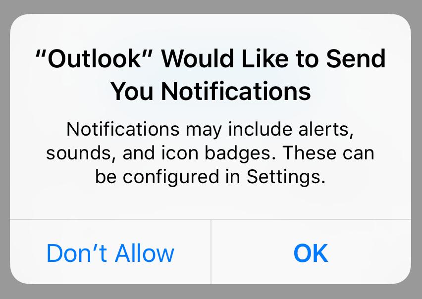 Touchez OK sur la fenêtre de notification