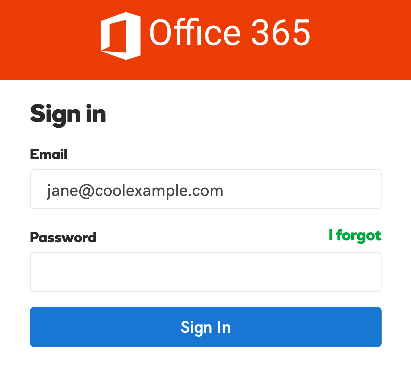 Enter email password and sign in