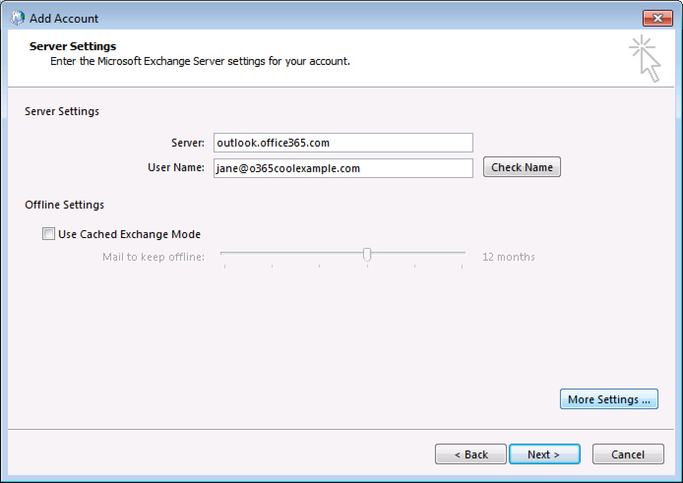outlook manually set up email office 365 from godaddy godaddy