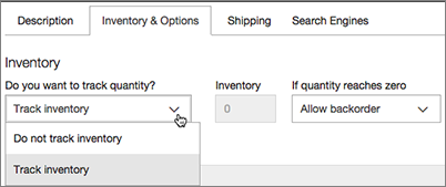 Choose Track Inventory