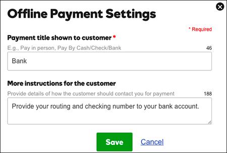 Ingresar etiquetas e instrucciones del cliente