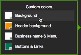 Click a choice in the Custom colors panel