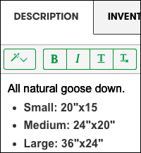 add option details in product Description field