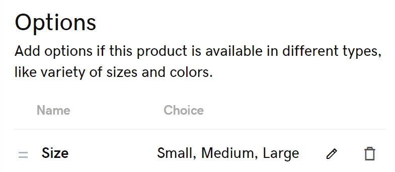 比較選項和選擇