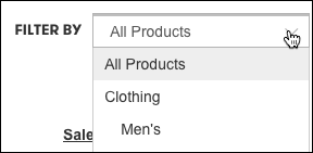 Filter your products by your categories.