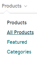 Click products under the products tab.