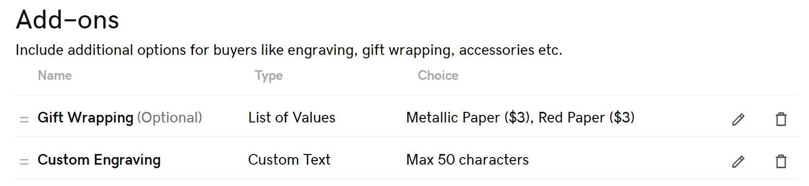 lijst met producttoevoegingen