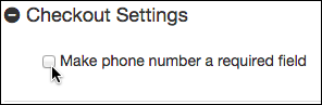 Select Make phone number a required field