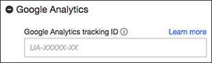Use the Google Analytics field to turn on your ID