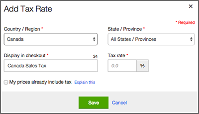 Select Country/Region and set State/Province to All.