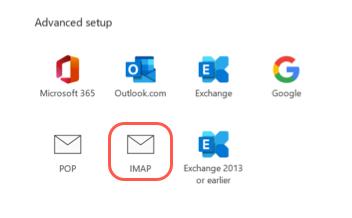 selecciona IMAP