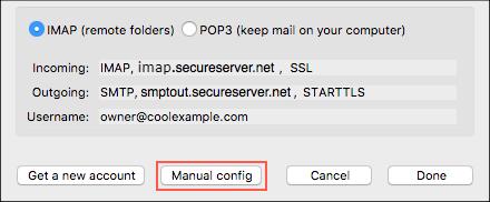 Klik konfigurasi manual