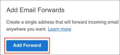 Нажмите Add Forward (Добавить переадресацию)