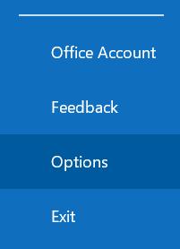 selezionare le opzioni