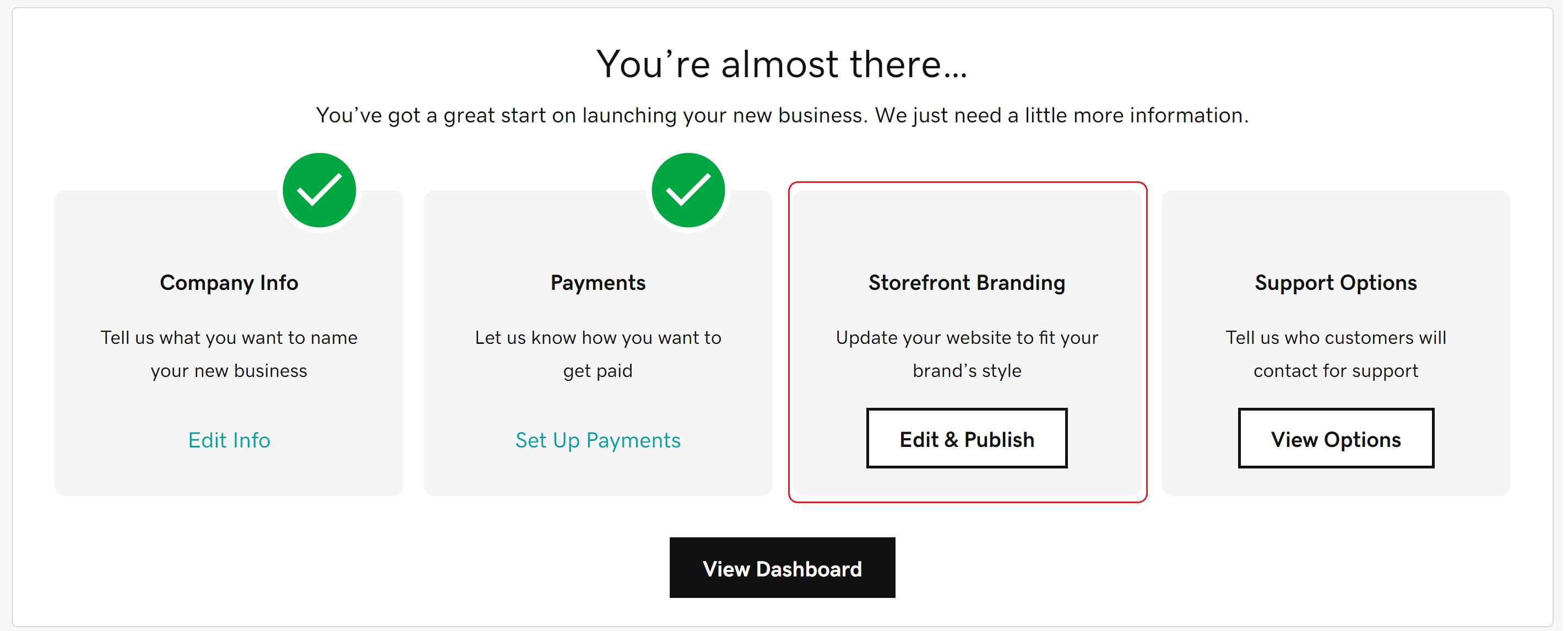 Storefront Branding Button