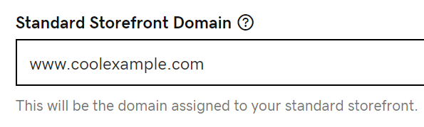 Enter Custom Domain