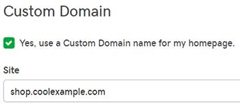 enter custom domain