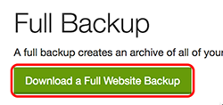 click download a full website backup